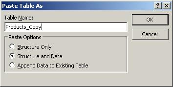 How to use VBA code to duplicate an existing table in MS Access