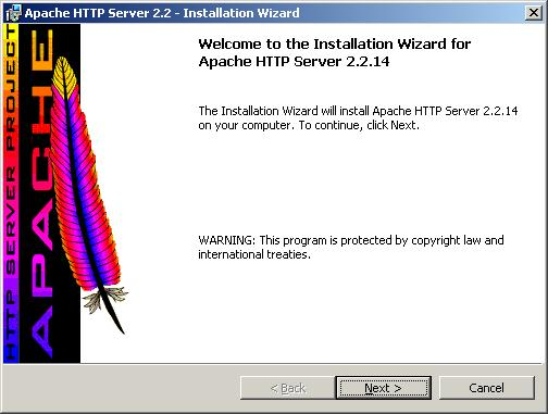 How to install Apache 2 web server on Windows to create a