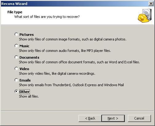 Powerful and free file recovery program - Recuva