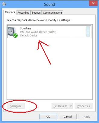 windows audio failed to play test tone